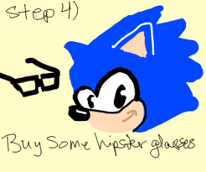 step 3) say ur being ironic when u draw sonic