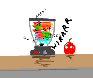 Blender with Fruit in it