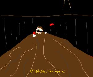 Mario and his sublime Gandalf imitation