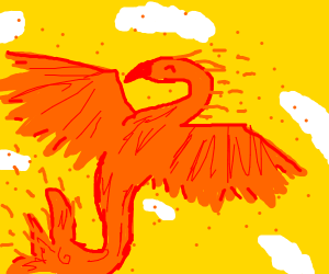 An orange and red Phoenix