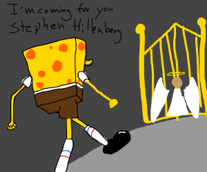 Spongebob fights his creators