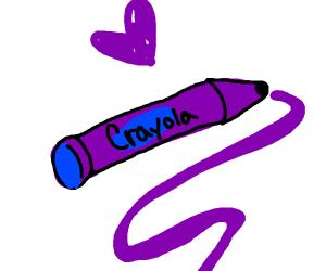 A purple crayon