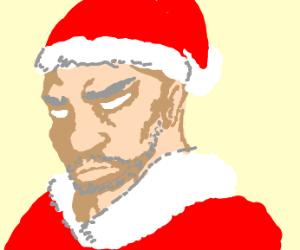 Beardless Santa Claus
