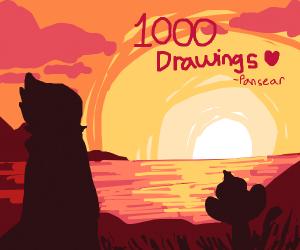 Pansear has made 1000 drawings!