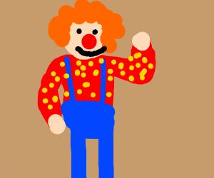 Clown waving