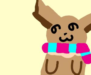 Eevee in a scarf
