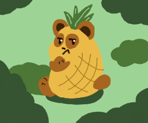 grumpy pineapple panda