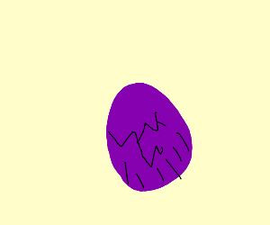 Thanos colored cracked egg