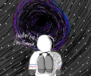 astronaut afraid of the dark
