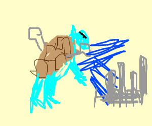 Blastoise Destroying a City