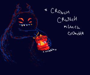 Demon Eating Doritos