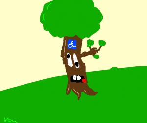a disabled tree