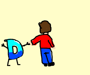 Drawception D holding hands