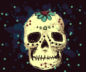 a painted skull