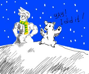 Polar bear does a Jojo