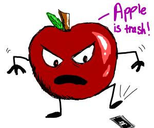 Apple hates apple phone