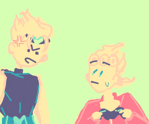 DIO yells at Giorno for playing video games
