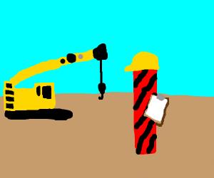 Twizzler construction worker