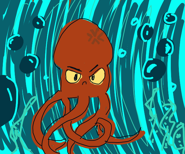 Mean squid guy