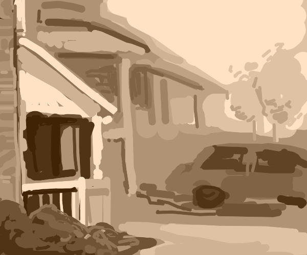 Suburban hilly Street