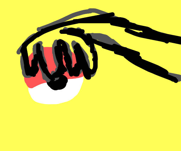 Teen female Tom Nook holding a pokeball
