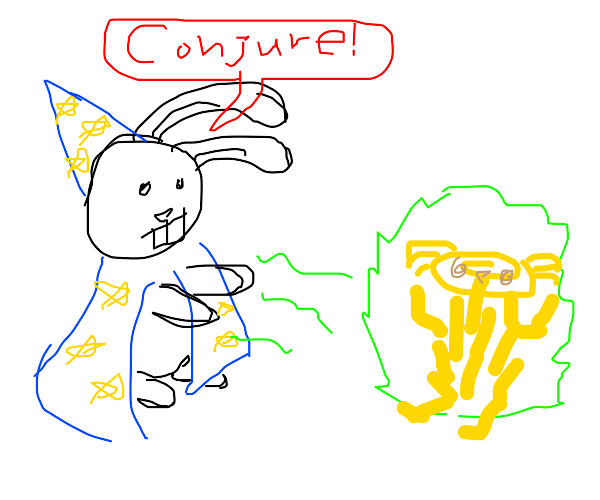 The Rabbit Mage Conjures a Critter