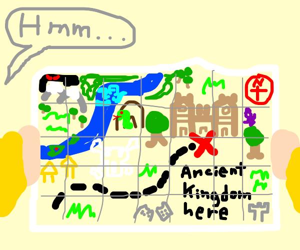 Map of ancient kingdom