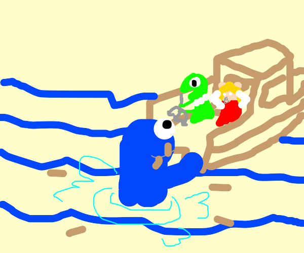 JAWS, but Muppets vs. Cookie Monster