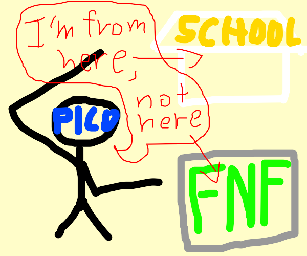Pico is originally from picos school, not FNF