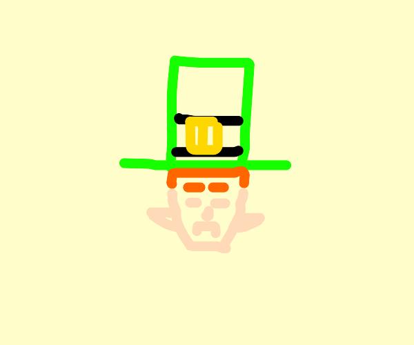 Stern leprechaun head
