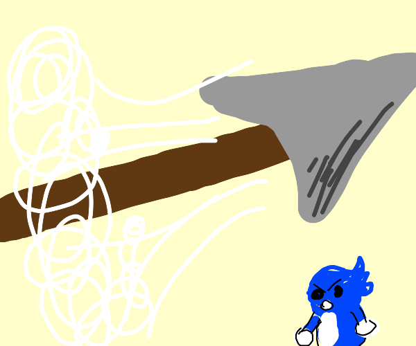 spear flying at supersonic speeds