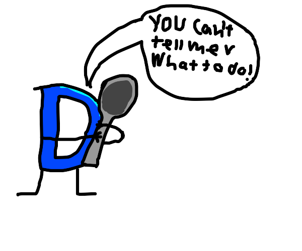Drawception, you don't need such a big spoon