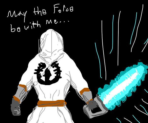 Jedi with light chainsaw