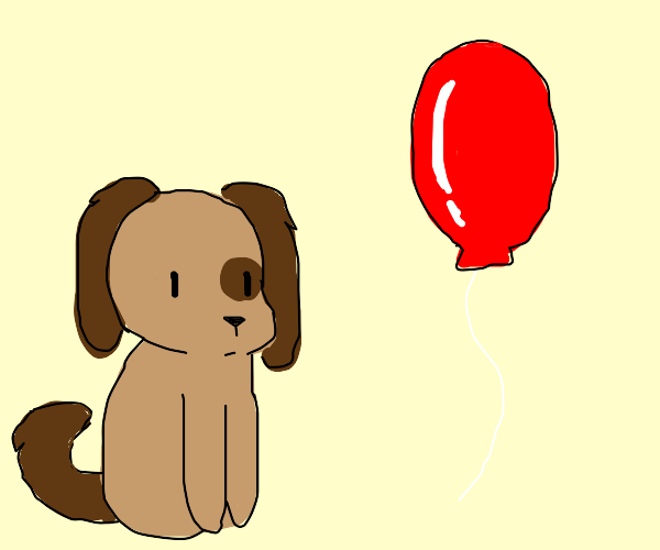 Dog and a balloon