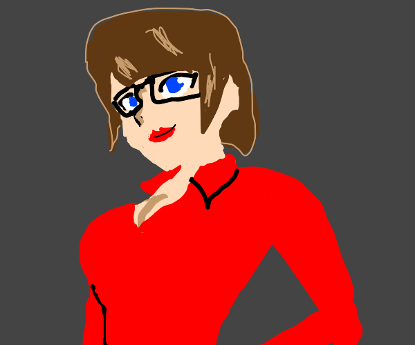 Sexy Velma in red dress