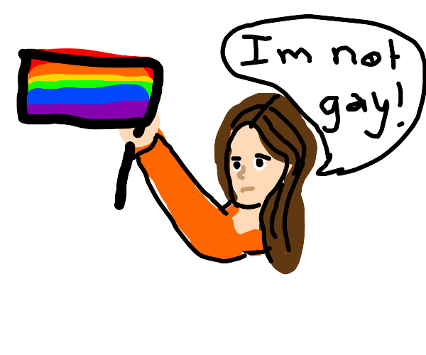 """""""I am not gay!"""" """"But if you were gay ;)"""""""