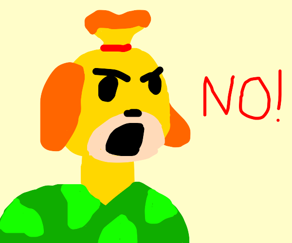 Isabelle from animal crossing is a soldier no