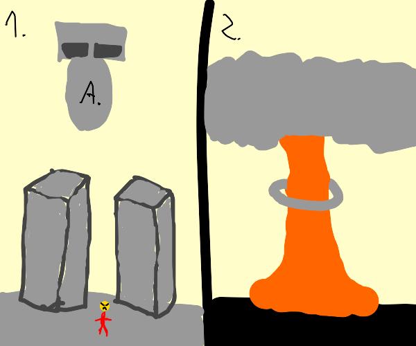 Adam bomb exploding