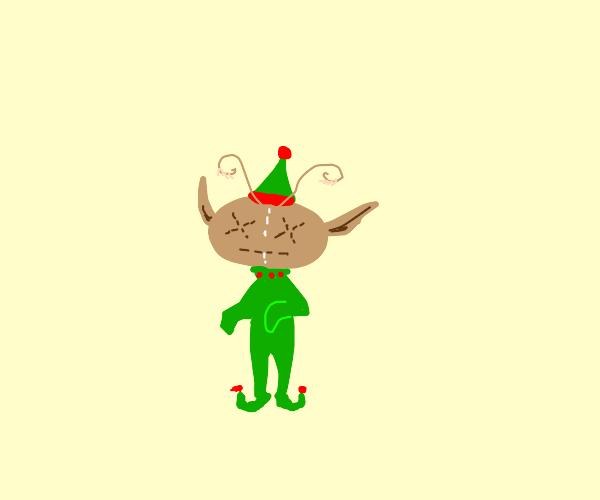ragdoll elf with antennae knees a ball