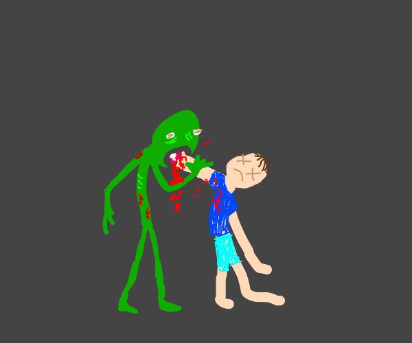 man killed by zombie