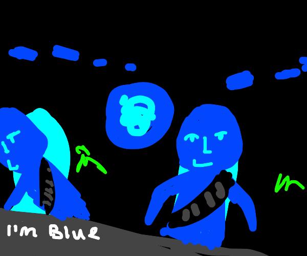 I'm blue bada de da