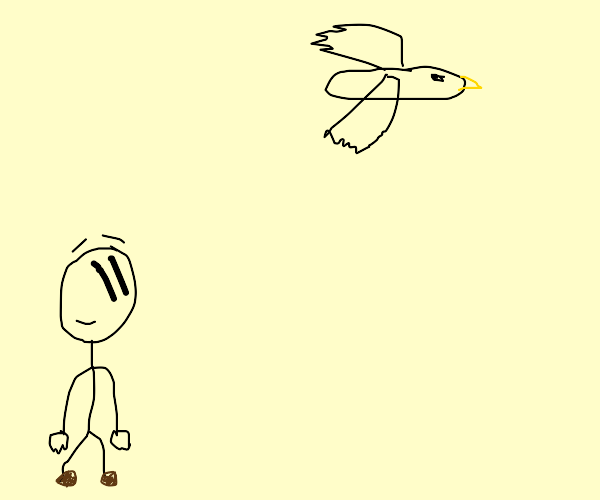 Charles (henry stickmin) looking at a bird
