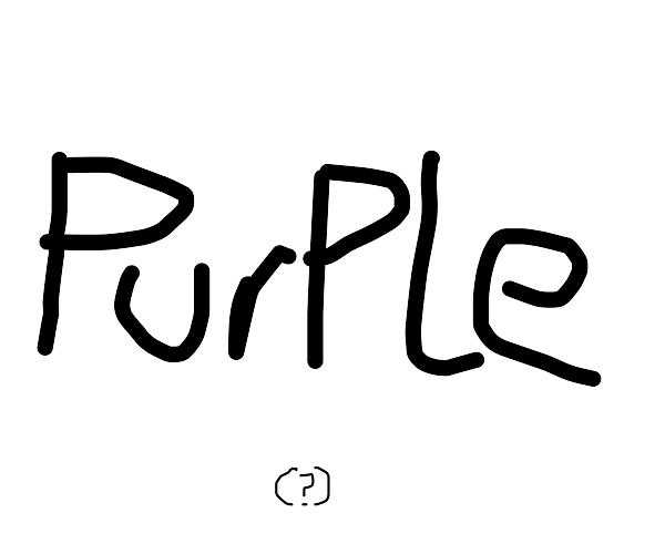 The word purple