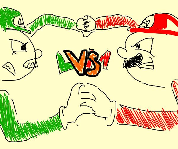 A Super Smash Bros. battle