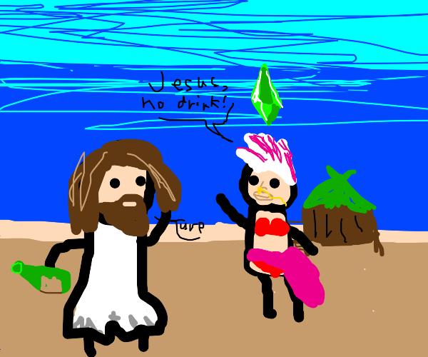 Jesus meets alien