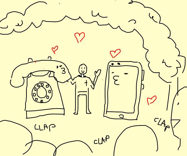 Phone wedding