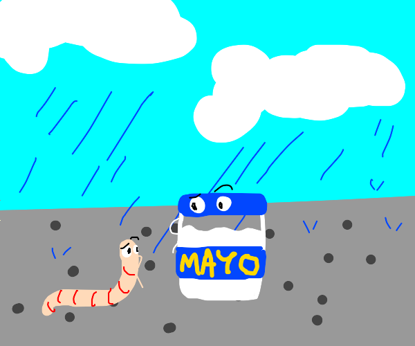 the worm wonders with mayonnaise