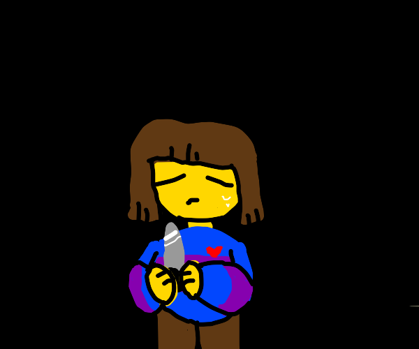 Frisk with a knife