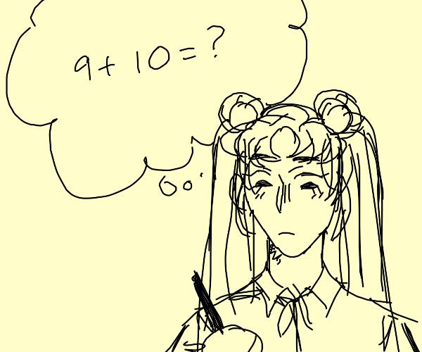 Sailor moon doing math