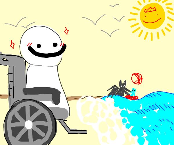 Handycap Dream goes to the beach
